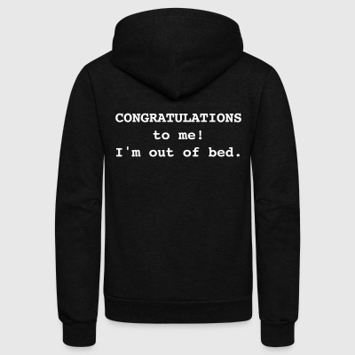 Congratulations To Me! - Unisex Fleece Zip Hoodie by American Apparel