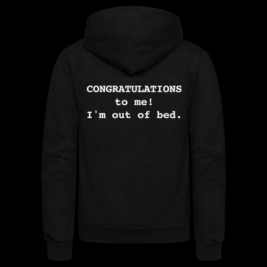 Congratulations To Me! - Unisex Fleece Zip Hoodie