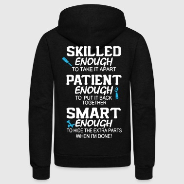 Awesome Mechanic Shirt - Unisex Fleece Zip Hoodie by American Apparel