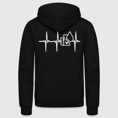 Heart Beat Science - Unisex Fleece Zip Hoodie