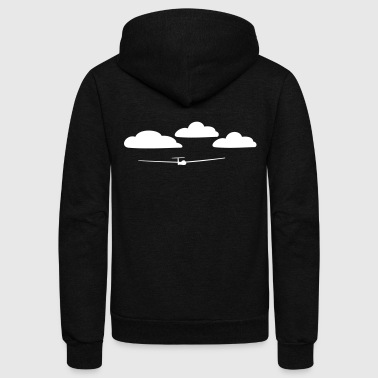 glider with clouds - Unisex Fleece Zip Hoodie