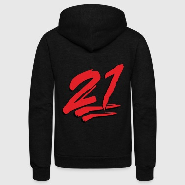 21 Emoticon - Unisex Fleece Zip Hoodie