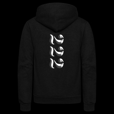 PMB222 Address Vertical Logo - Unisex Fleece Zip Hoodie