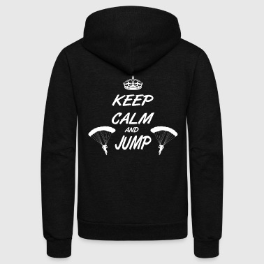 T-Shirt Skydiving - parachuting - Unisex Fleece Zip Hoodie