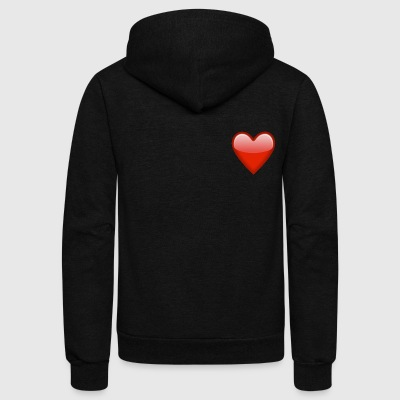 Heart Tshirt For Women - Unisex Fleece Zip Hoodie by American Apparel