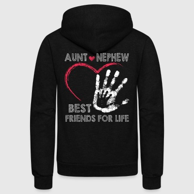 Aunt and nephew best friends for lifes - Unisex Fleece Zip Hoodie by American Apparel