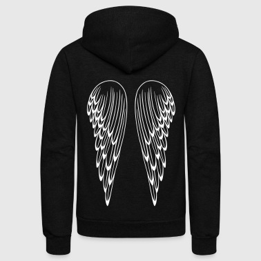 Angel wings, guardian angel, wings. - Unisex Fleece Zip Hoodie