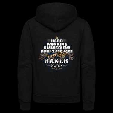 Shirts for Men, Job Shirt Baker - Unisex Fleece Zip Hoodie