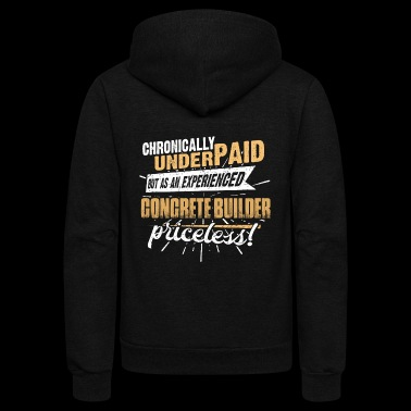 Shirts for Men, Job Shirt Concrete Builder - Unisex Fleece Zip Hoodie