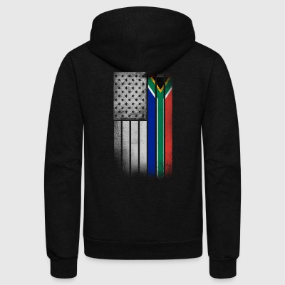 South African American Flag - Unisex Fleece Zip Hoodie by American Apparel