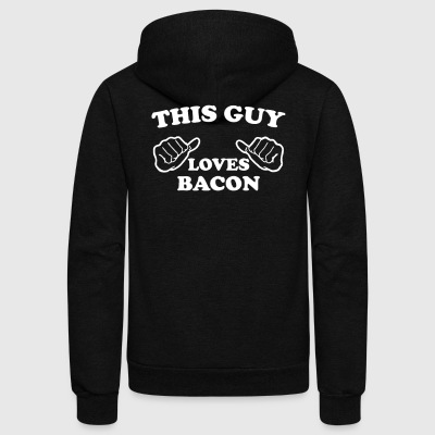This Guy Loves Bacon - Unisex Fleece Zip Hoodie by American Apparel