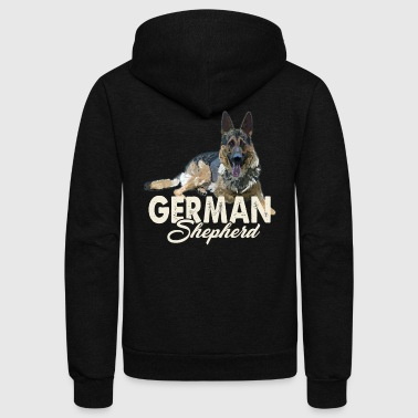 German Shepherd Shirt - German Shepherd Love Shirt - Unisex Fleece Zip Hoodie