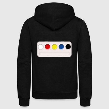 paint farbkasten color colour malen painting - Unisex Fleece Zip Hoodie by American Apparel