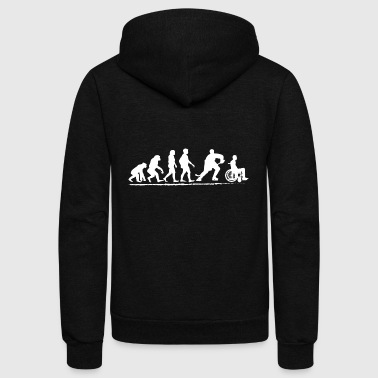 Ice hockey Team Shirt Evolution Shirt for Men fun - Unisex Fleece Zip Hoodie