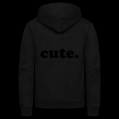 cute - Unisex Fleece Zip Hoodie