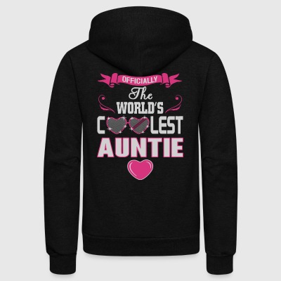 Officially the world's coolest auntie - Unisex Fleece Zip Hoodie by American Apparel