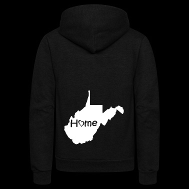 West Virginia2 - Unisex Fleece Zip Hoodie