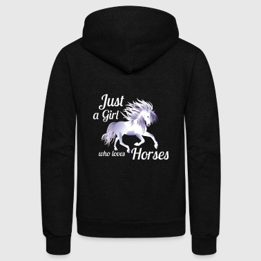 Horse T-Shirt Gift Horeowner Horselover Girls - Unisex Fleece Zip Hoodie