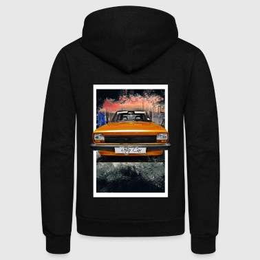retro car - Unisex Fleece Zip Hoodie