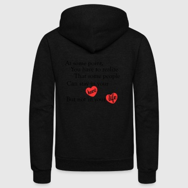 love quotes cool - Unisex Fleece Zip Hoodie by American Apparel