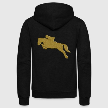 Golden Riding - Unisex Fleece Zip Hoodie by American Apparel