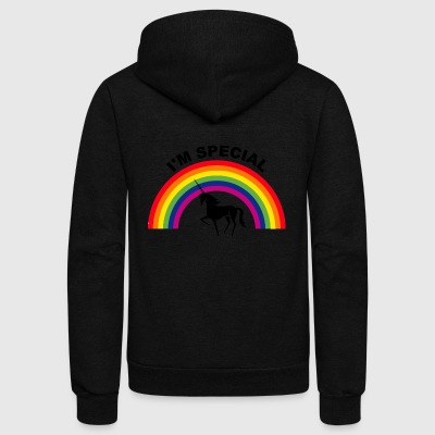Unicorn rainbow are born in 2018 - Unisex Fleece Zip Hoodie by American Apparel