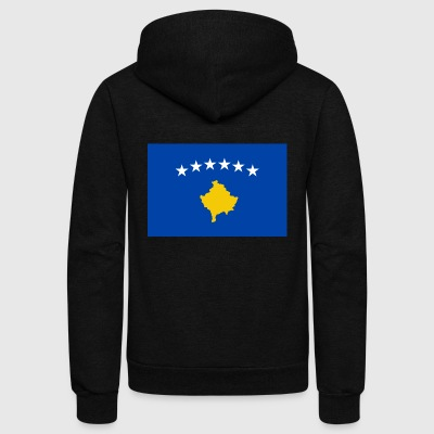 Kosovo - Unisex Fleece Zip Hoodie by American Apparel