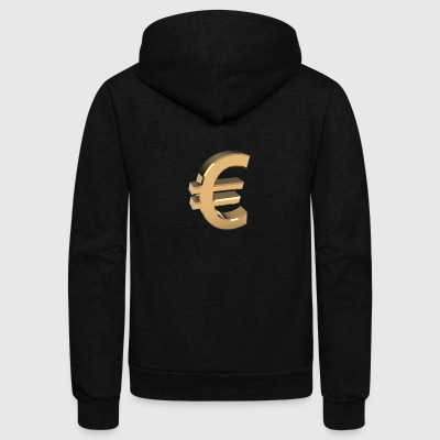 Currency, euro - Unisex Fleece Zip Hoodie by American Apparel