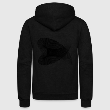 Hypnotic Tunnel - Unisex Fleece Zip Hoodie