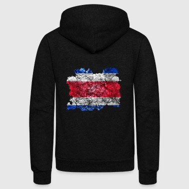 Costa Rica Vintage Flag - Unisex Fleece Zip Hoodie by American Apparel