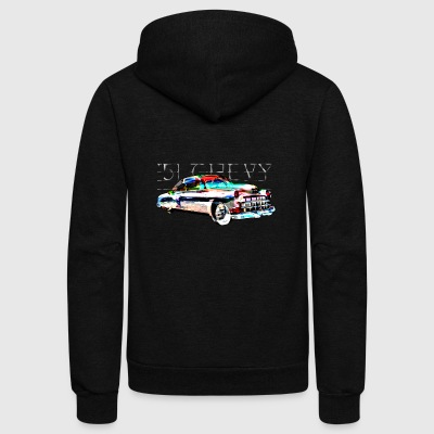 '51 Chevy by Austin Graphics - Unisex Fleece Zip Hoodie by American Apparel