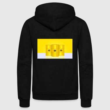 nuclear - Unisex Fleece Zip Hoodie by American Apparel