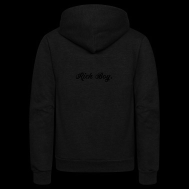Rich Boy Wealthy Empire Blogger Instagram Gift - Unisex Fleece Zip Hoodie
