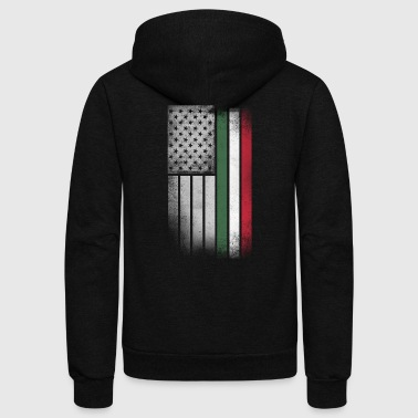 Hungarian American Flag - Unisex Fleece Zip Hoodie by American Apparel