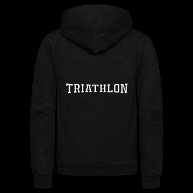 triathlon - Unisex Fleece Zip Hoodie