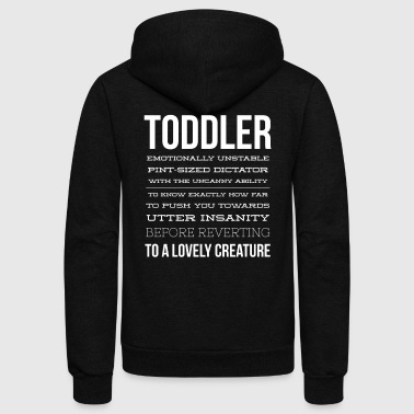 Toddler description - Unisex Fleece Zip Hoodie by American Apparel