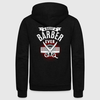 BEST BARBER EVER TEE SHIRT - Unisex Fleece Zip Hoodie by American Apparel