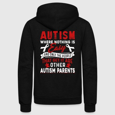 AUTISM SHIRT - Unisex Fleece Zip Hoodie by American Apparel