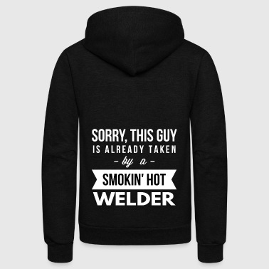 Already taken by a smokin hot Welder - Unisex Fleece Zip Hoodie