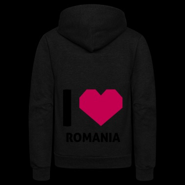 I Love Romania - Unisex Fleece Zip Hoodie