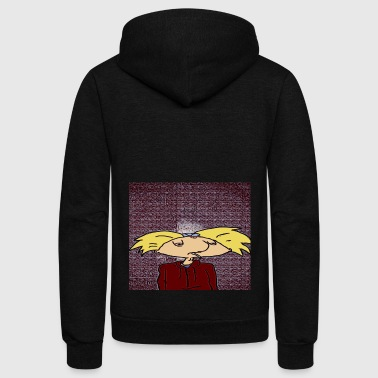Hey Arnold - Unisex Fleece Zip Hoodie by American Apparel