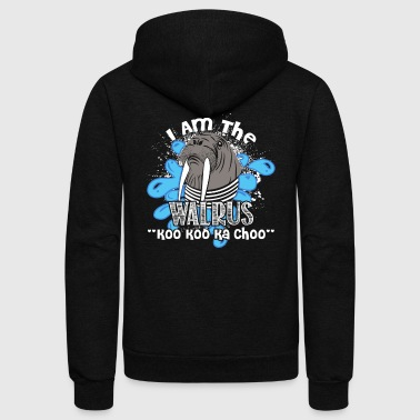 I Am The Walrus Tee Shirt - Unisex Fleece Zip Hoodie