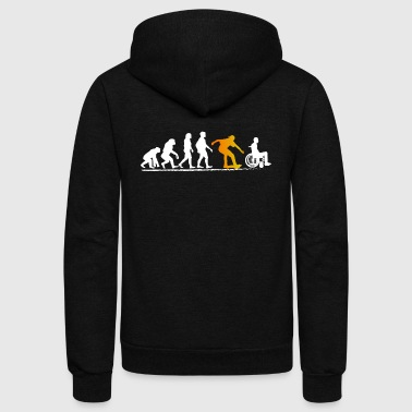 Skateboard tshirt Evolution Shirt funny gift Men - Unisex Fleece Zip Hoodie