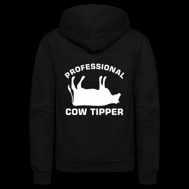 Proffessional Cow Tipper Tipping Dairy Farm - Unisex Fleece Zip Hoodie