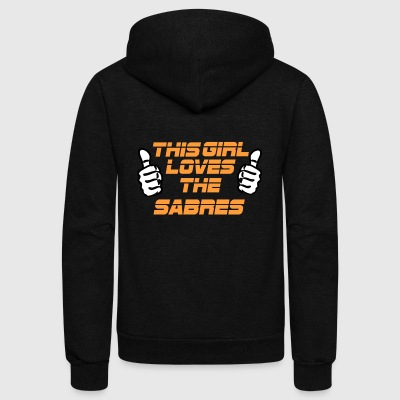 NFL This Girl Loves The SABRES - Unisex Fleece Zip Hoodie by American Apparel