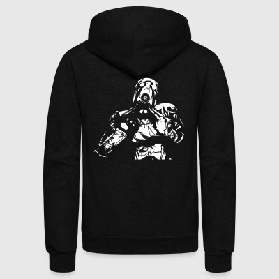 psycho - Unisex Fleece Zip Hoodie by American Apparel