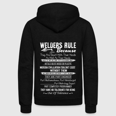 Welder Rule Shirt - Unisex Fleece Zip Hoodie