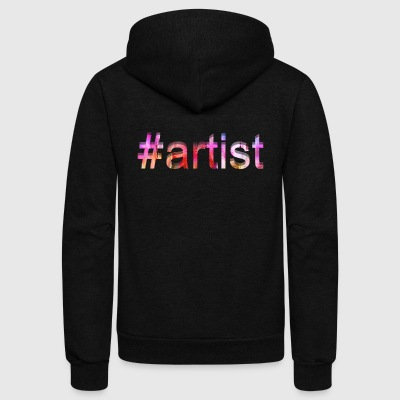 Artist Shirt - Unisex Fleece Zip Hoodie by American Apparel