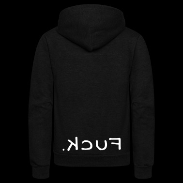 Fuck Mirrored - Unisex Fleece Zip Hoodie