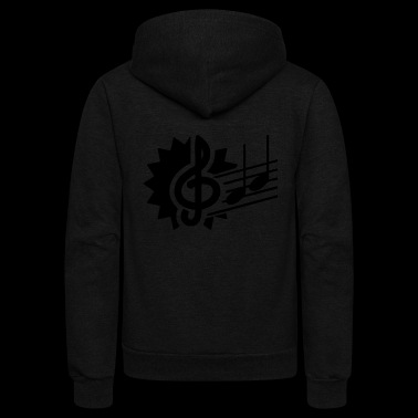 Music Notes - Music Notes - Unisex Fleece Zip Hoodie